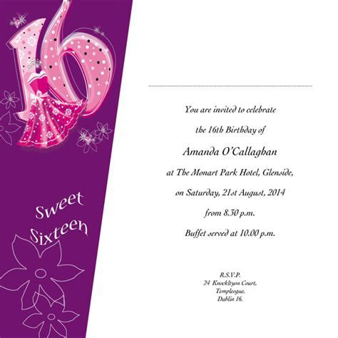 Occasion Card 16 1w   Sweet 16th Birthday   wedding