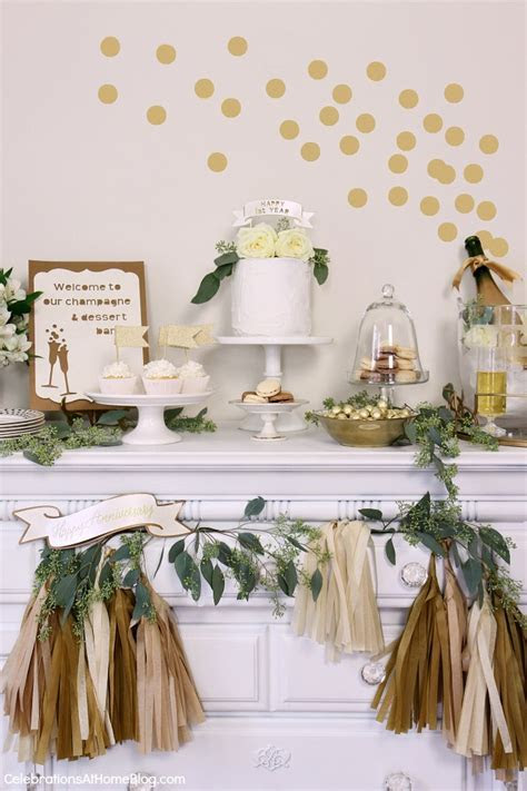 Anniversary Party Ideas in Gold & White   Celebrations at Home