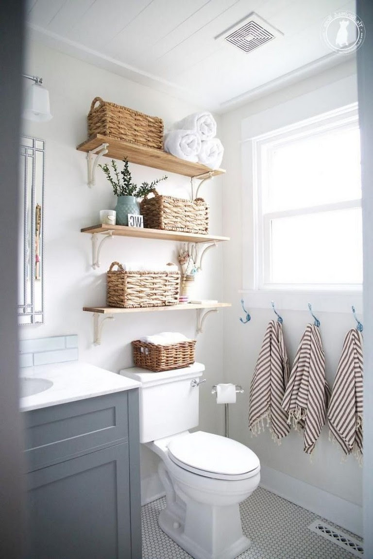 35+ Top Small Master Bathroom Decorating Ideas - Page 27 of 37