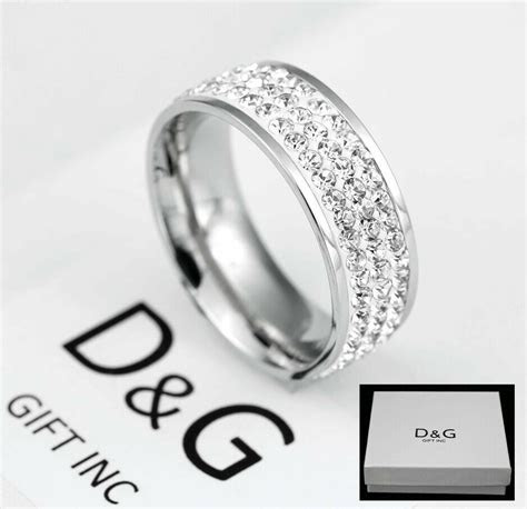 dg gift  mens stainless steel double row eternity