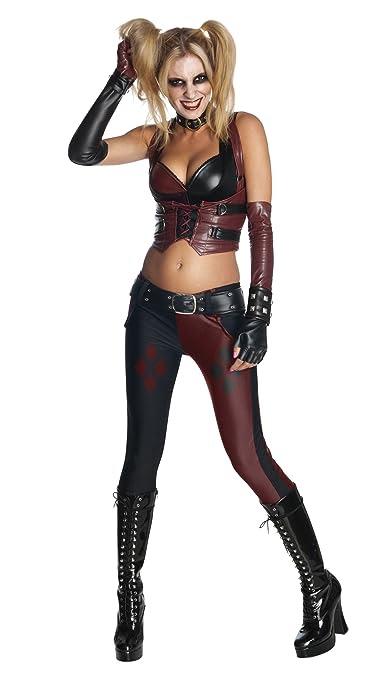 Secret Wishes Batman Arkham City  Adult Harley Quinn Costume, Multi-Colored, X-Small