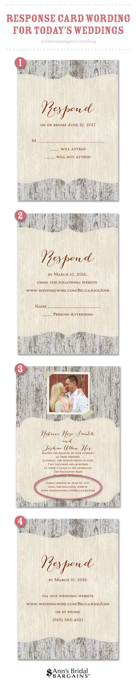 Response Card Wording Examples for Online RSVPs   Wedding