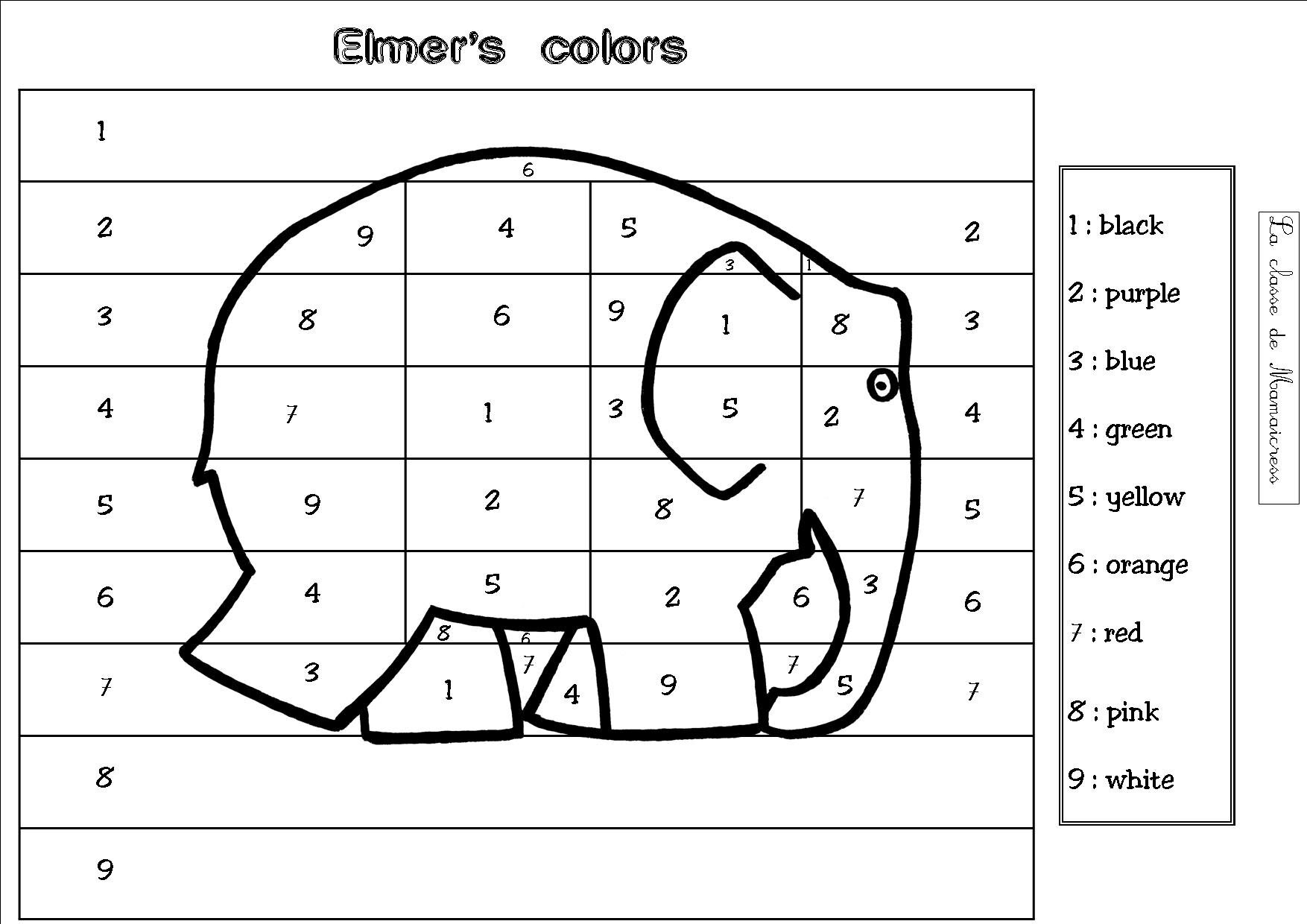 coloriage magique anglais couleurs travaux en autonomie coloriages magiques Apprends l