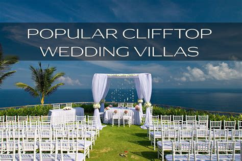 Best clifftop wedding villas in Bali   and everything you