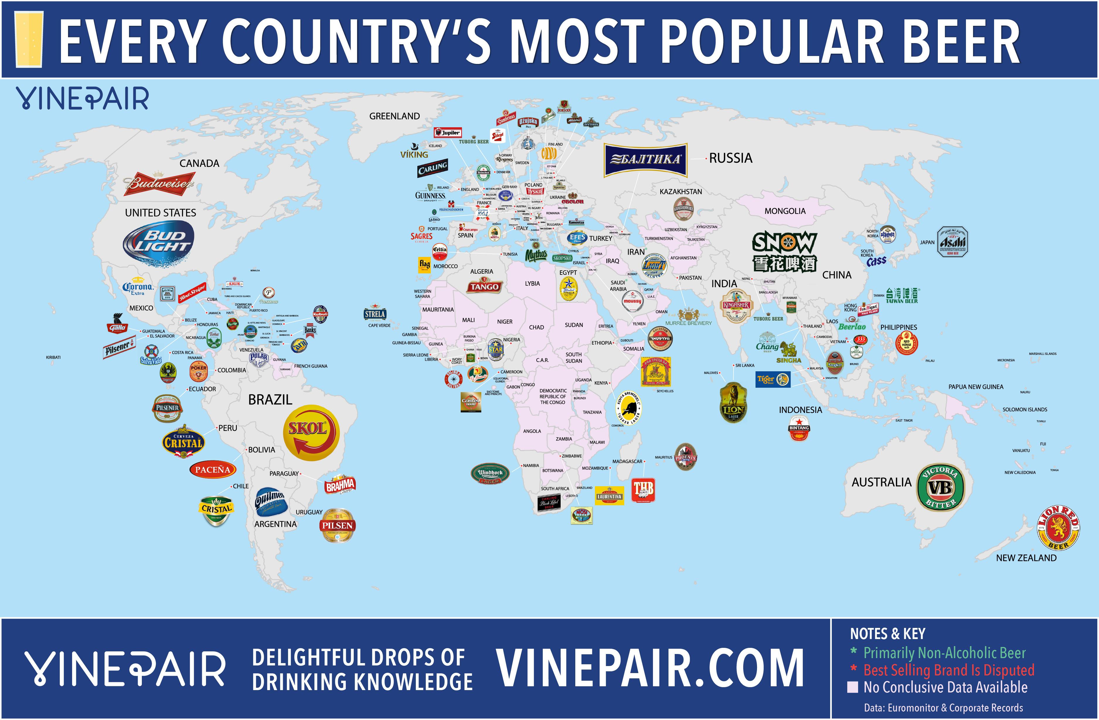 cervezas mapa