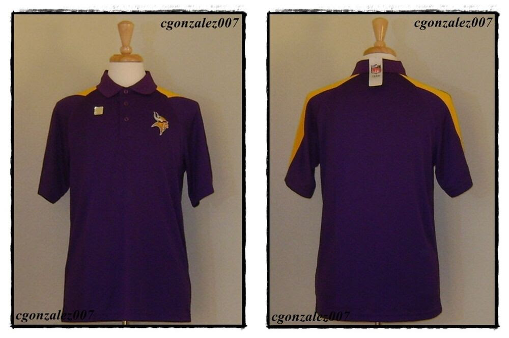 NFL TEAM APPAREL Minnesota Vikings The Vikes Football Polo Shirt Jersey Mens  eBay