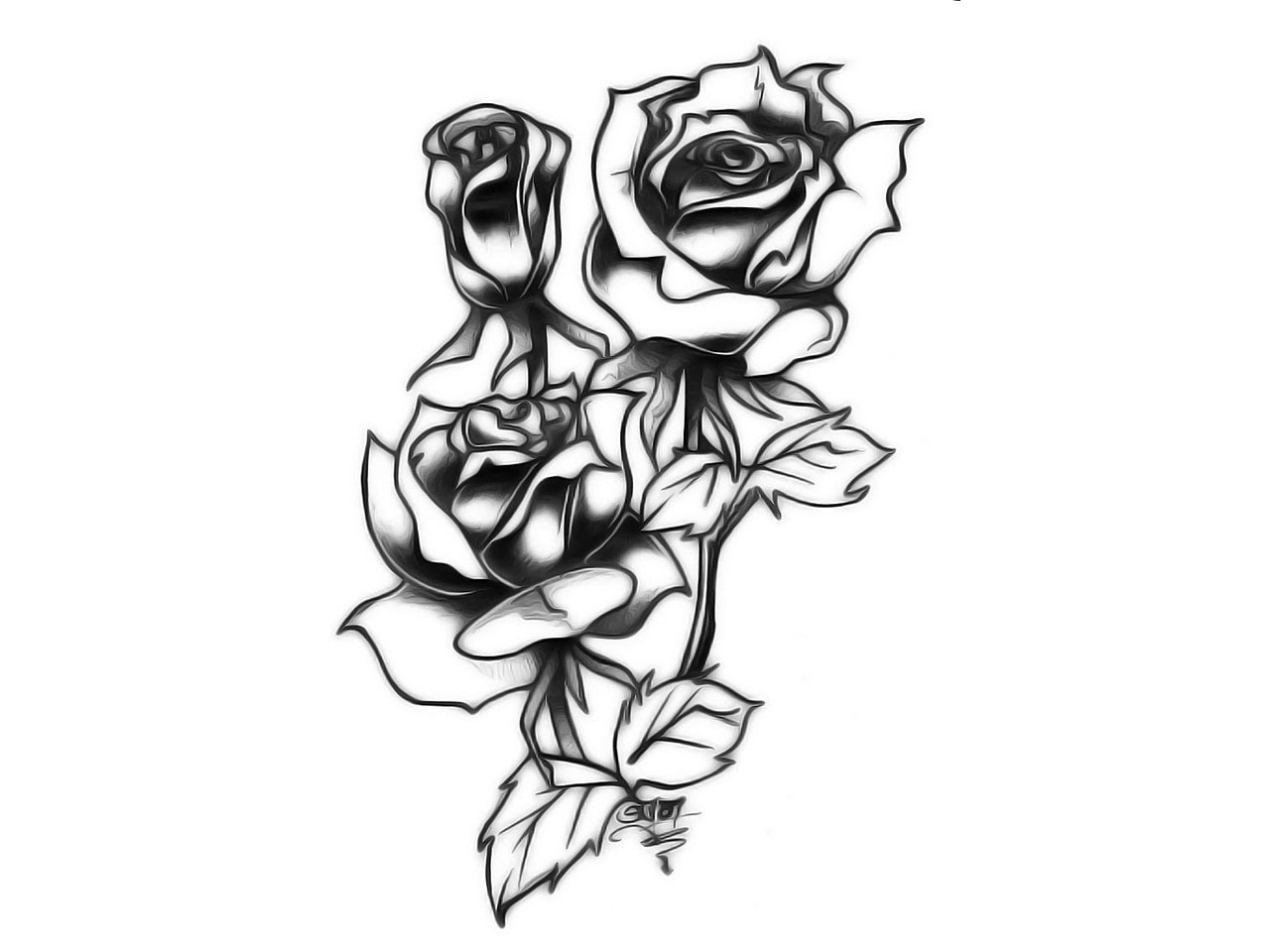Tattoos For Tribal Rose Tattoo Designs Clip Art Library