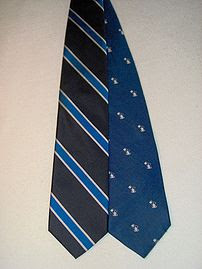 The two variants of the school tie for Phillip...