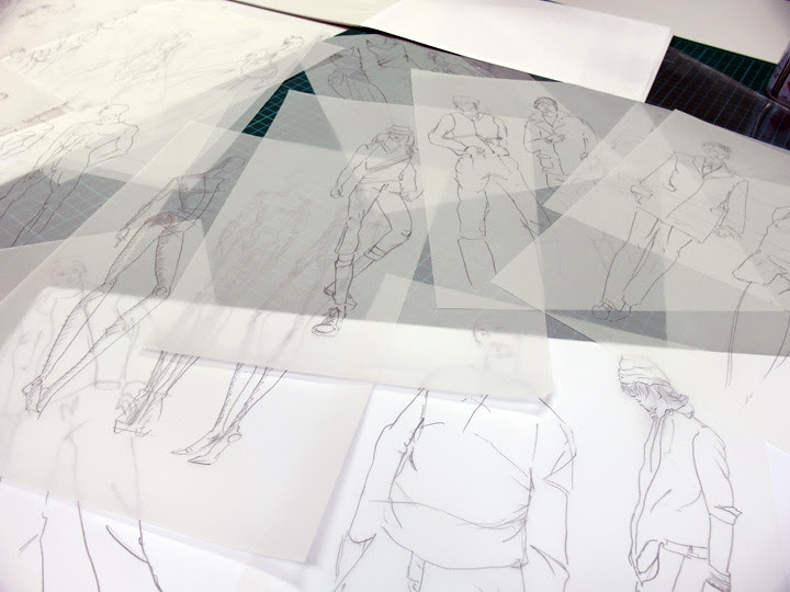 MDIS School of Fashion and Design lecturer sketches