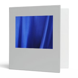 Flowing Blue Silk Fabric Abstract 3 Ring Binder
