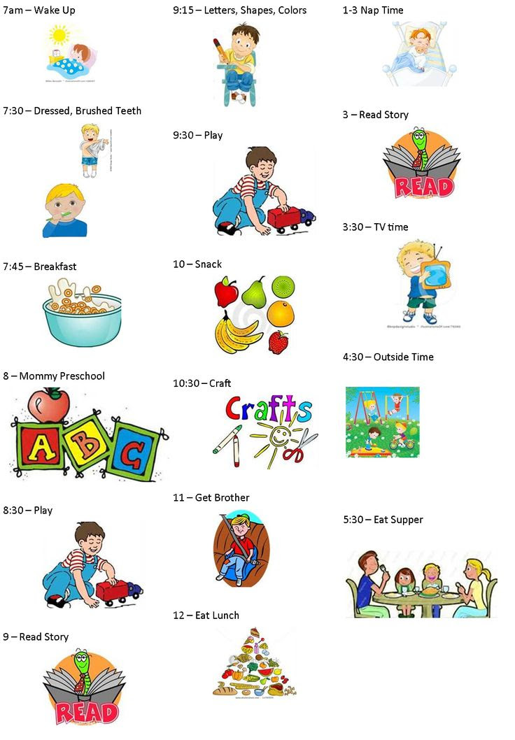 Visual Daily Schedule For Toddlers | Daily Planner