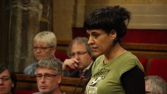 Anna Gabriel, en una imatge a l'hemicicle del Parlament (ACN)