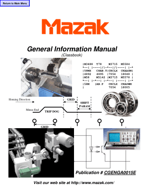 Mazak General Information Manual Classbook | CNC Manuals