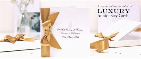 Luxury Wedding Anniversary Cards   Made With Love