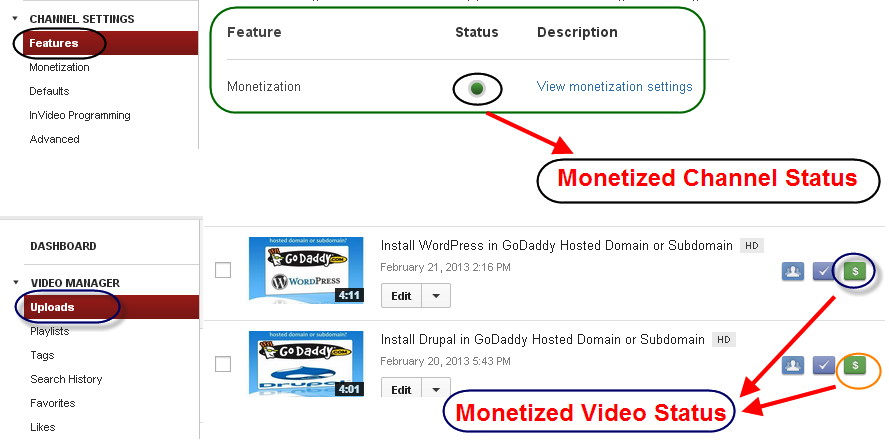 monetization status