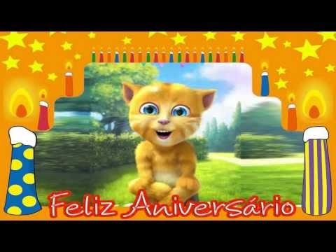 Vídeo Mensagem de Aniversário Gatinho te Desejar um Feliz Aniversário.