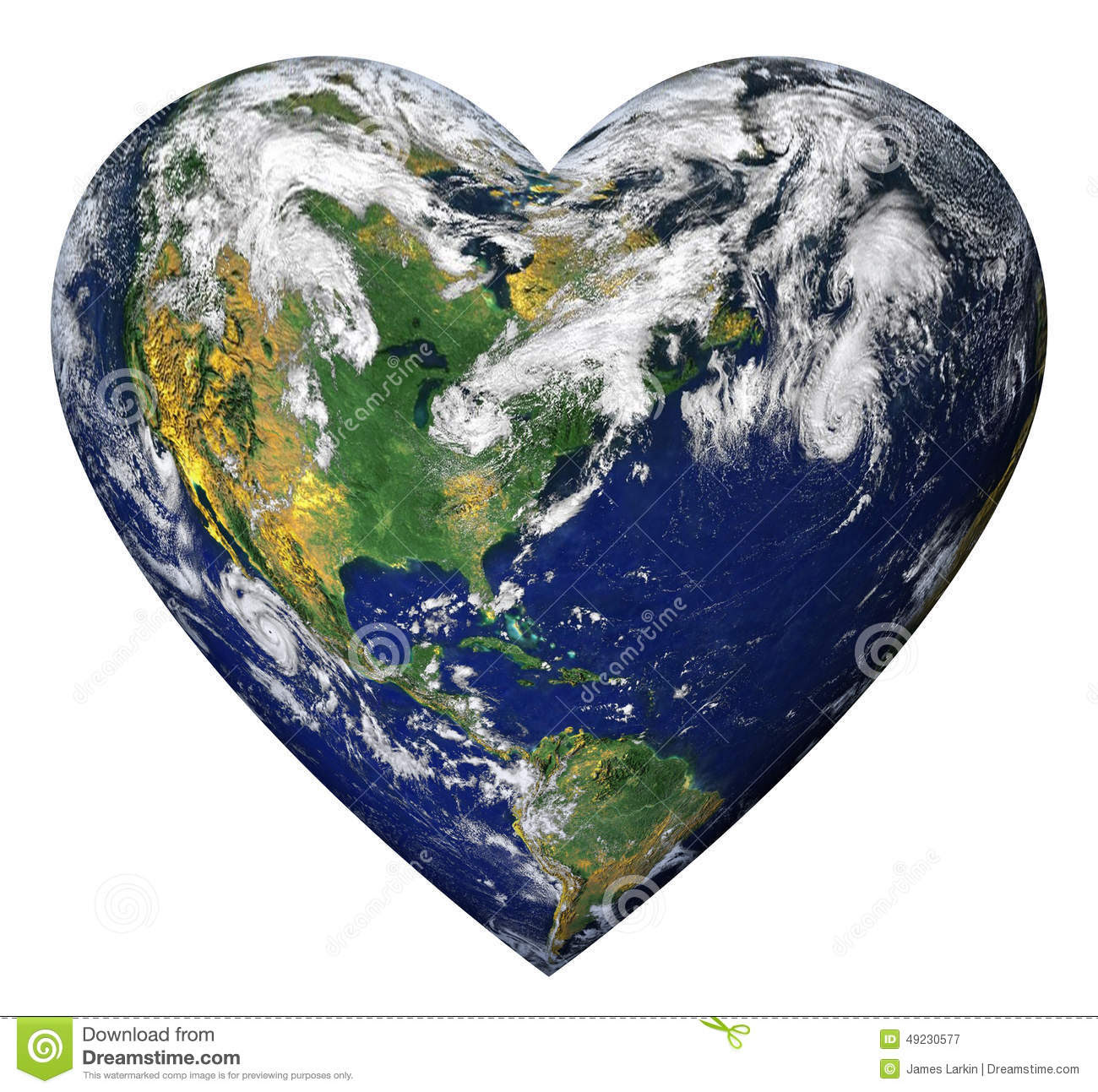 heart earth planet shaped as isolated background clipping path 49230577