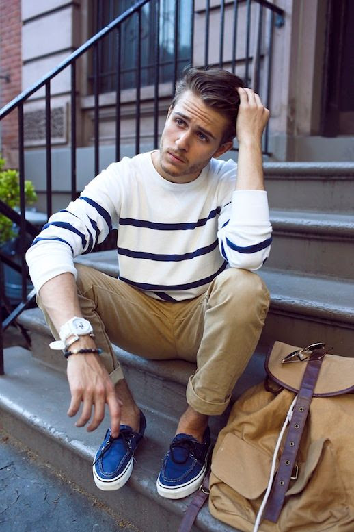 25 Stylish Hot Guys In Stripes -- Adam Gallagher -- Cuffed Pants and Boat Shoes -- Mens Style Blogger -- Via I Am Galla photo 14-25-Stylish-Hot-Guys-In-Stripes-Adam-Gallagher-Cuffed-Pants-Boat-Shoes-Mens-Style-Blogger-Via-I-Am-Galla.jpg