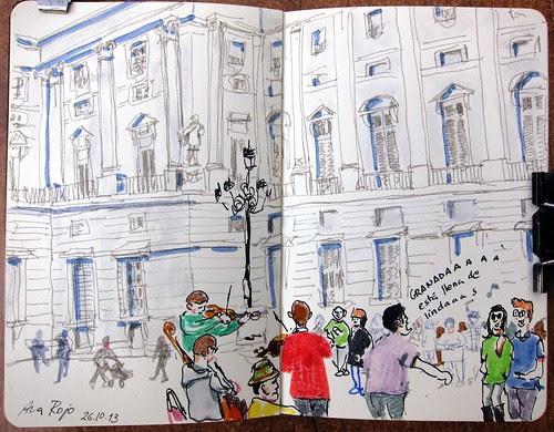 Concurso De Dibujo Urbano En Libreta Fnac Madrid: Aidibus: Cinco Lugares Típicos De Madrid