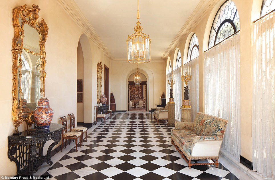 Luxury: The house is adorned with fine furniture and fittings