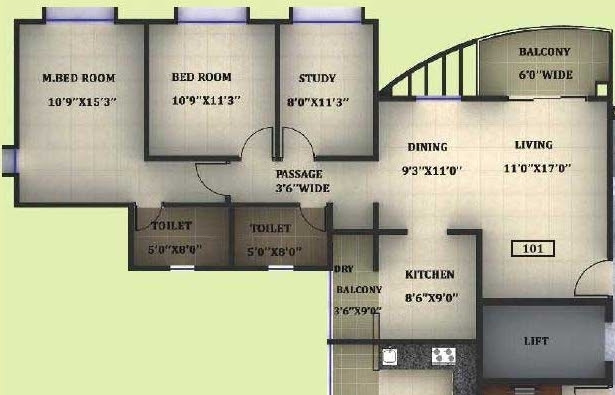 2.5 BHK Flat 1003 Carpet for Rs. 51,95,082 - 54,70,405 Non Garden & Rs. 52,63,913 - 55,39,236 Garden Facing in A3 Building - Splendour - Megapolis Smart Homes 3: 2 BHK, 2.5 BHK & 3 BHK Flats at Hinjewadi Phase 3, Pune 411 057