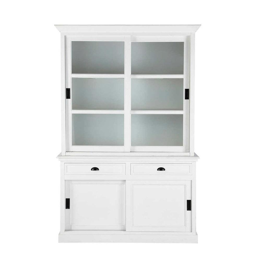 Alacena de madera blanca An. 145 cm Newport | Maisons du Monde