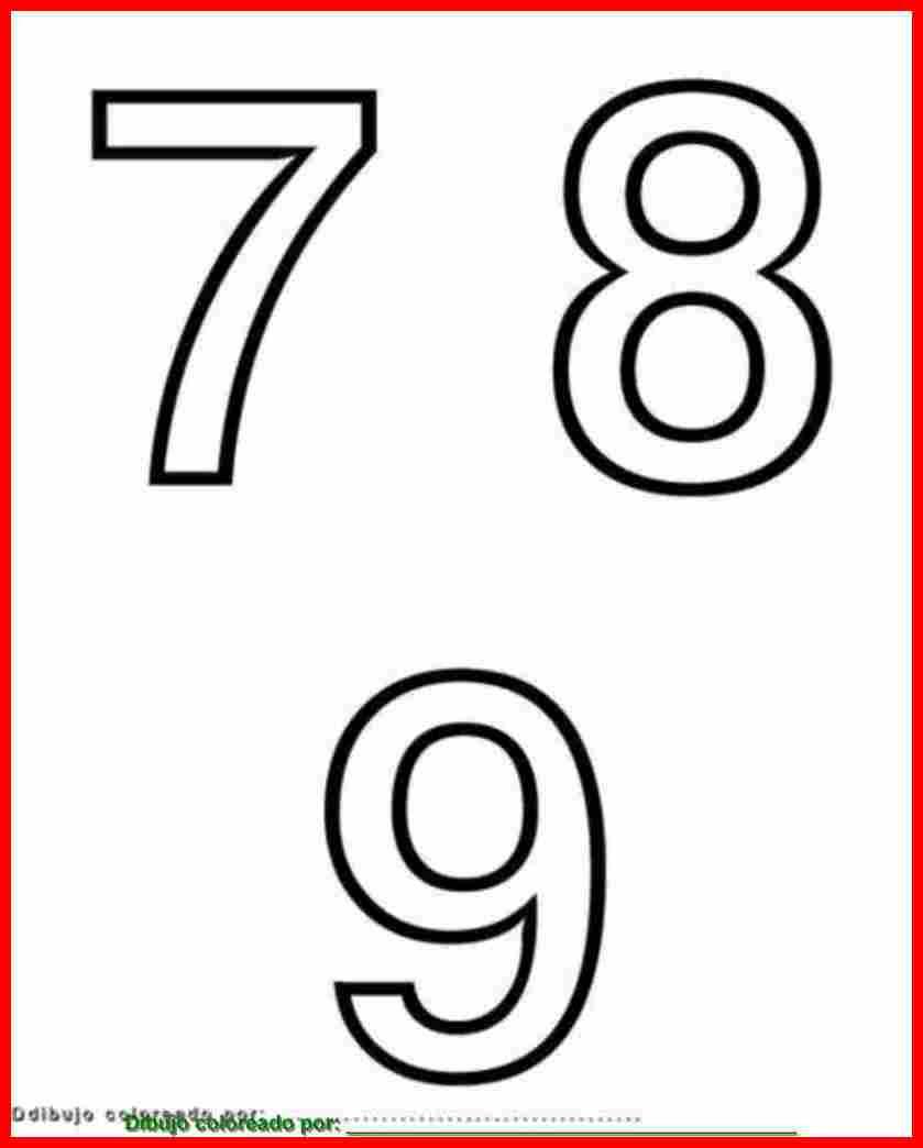 Dibujo De Números Para Colorear E Imprimir
