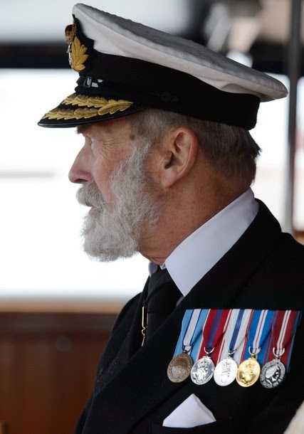 Prince Michael ofKentaboard the boat 'Havengore' watches the flotilla during theThamesDiamond Jubilee Pageant on the River Thames in London on June 3, 2012.Queen Elizabeth IIsailed Sunday on a royal barge at the centre of a spectacular 1,000-boat river pageant on the Thames, the set-piece of celebrations to mark her diamond jubilee.
