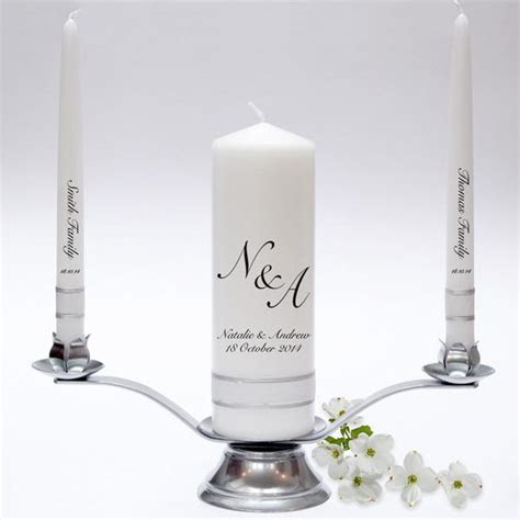 Initials Wedding Candle Taper Set ? Candles Online