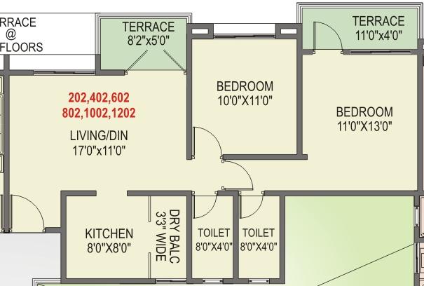 Elite Homes, Tathawade, Wakad Pune, 2-BHK Flat on an Even Floor