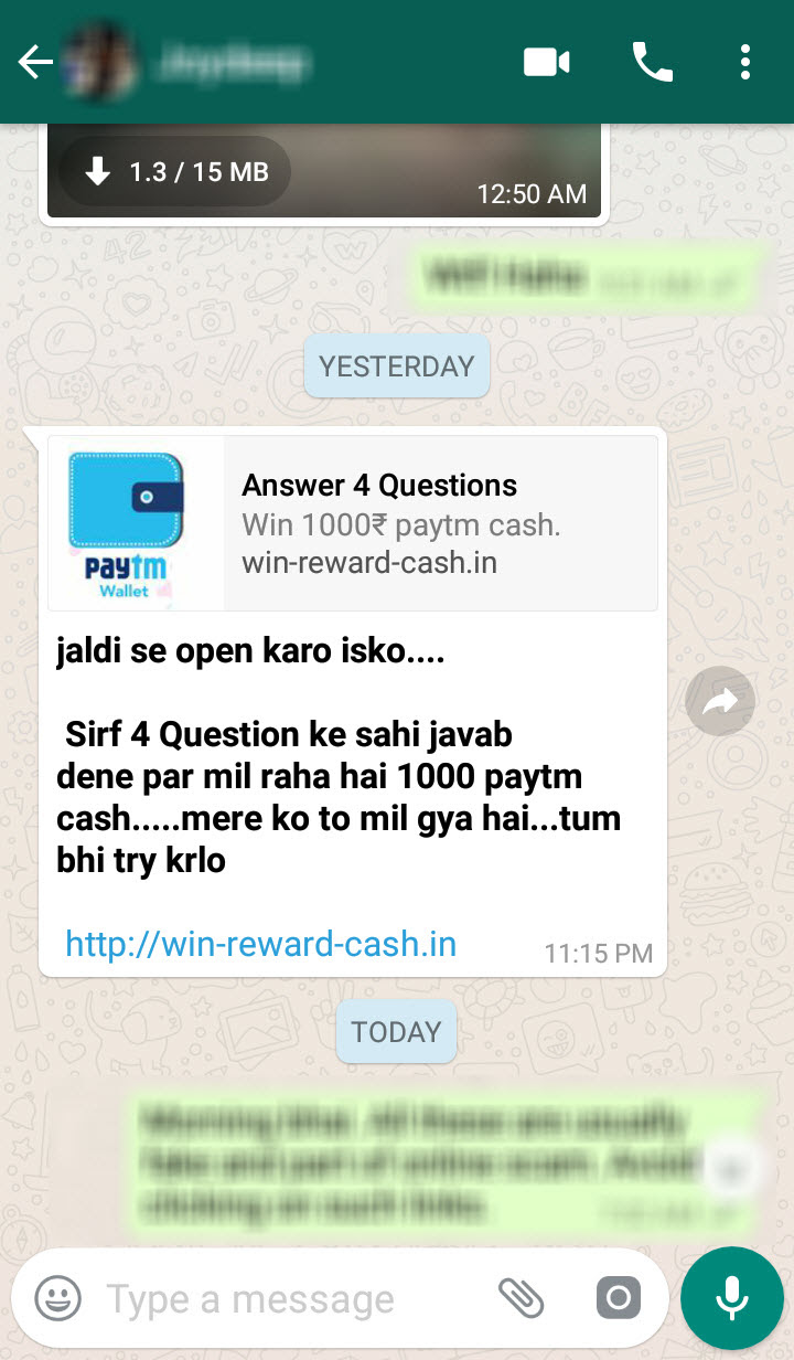 Trending WhatsApp Scams in India!