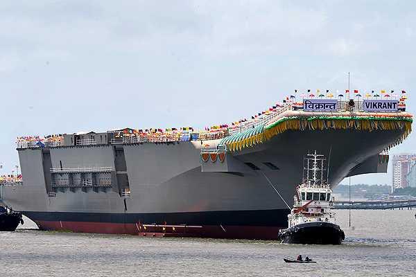 India presenta al 'INS Vikrant', el primer portaaviones con tecnología propia