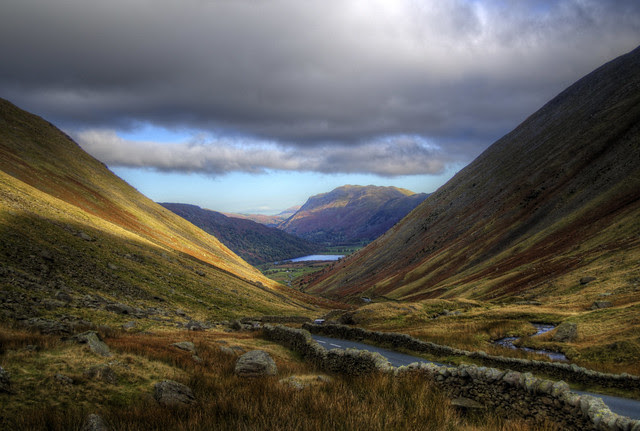 lake district high passes in autumn