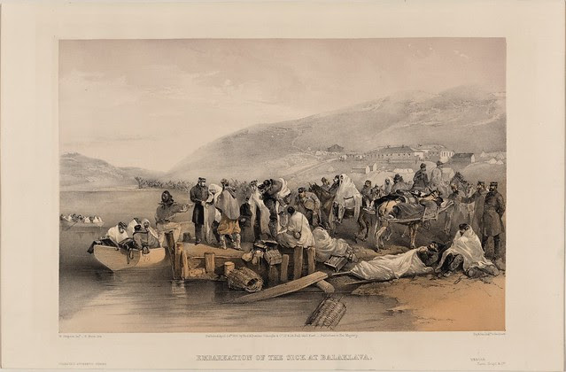 Embarkation of the sick at Balaklava