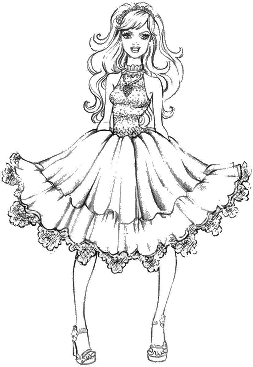 Download Fashion Coloring Pages