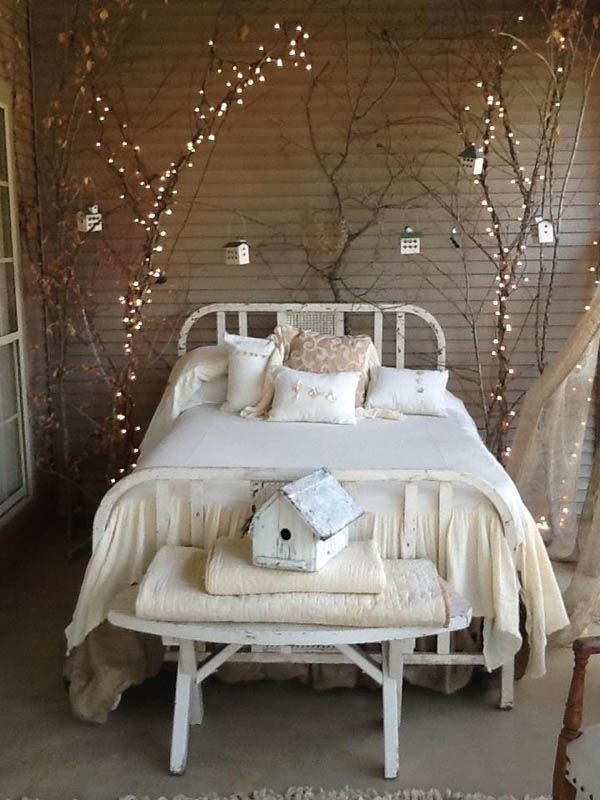 66 Inspiring ideas for Christmas lights in the bedroom @ http://lightingworldbay.com #lighting
