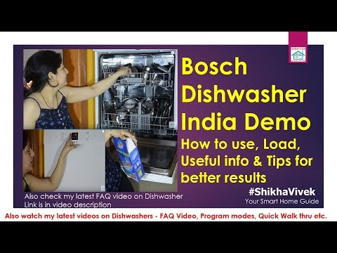 Is a Dishwasher worth buying for Indian cooking style. Review of Bosch Dishwasher SMS60L12IN - Demo & features