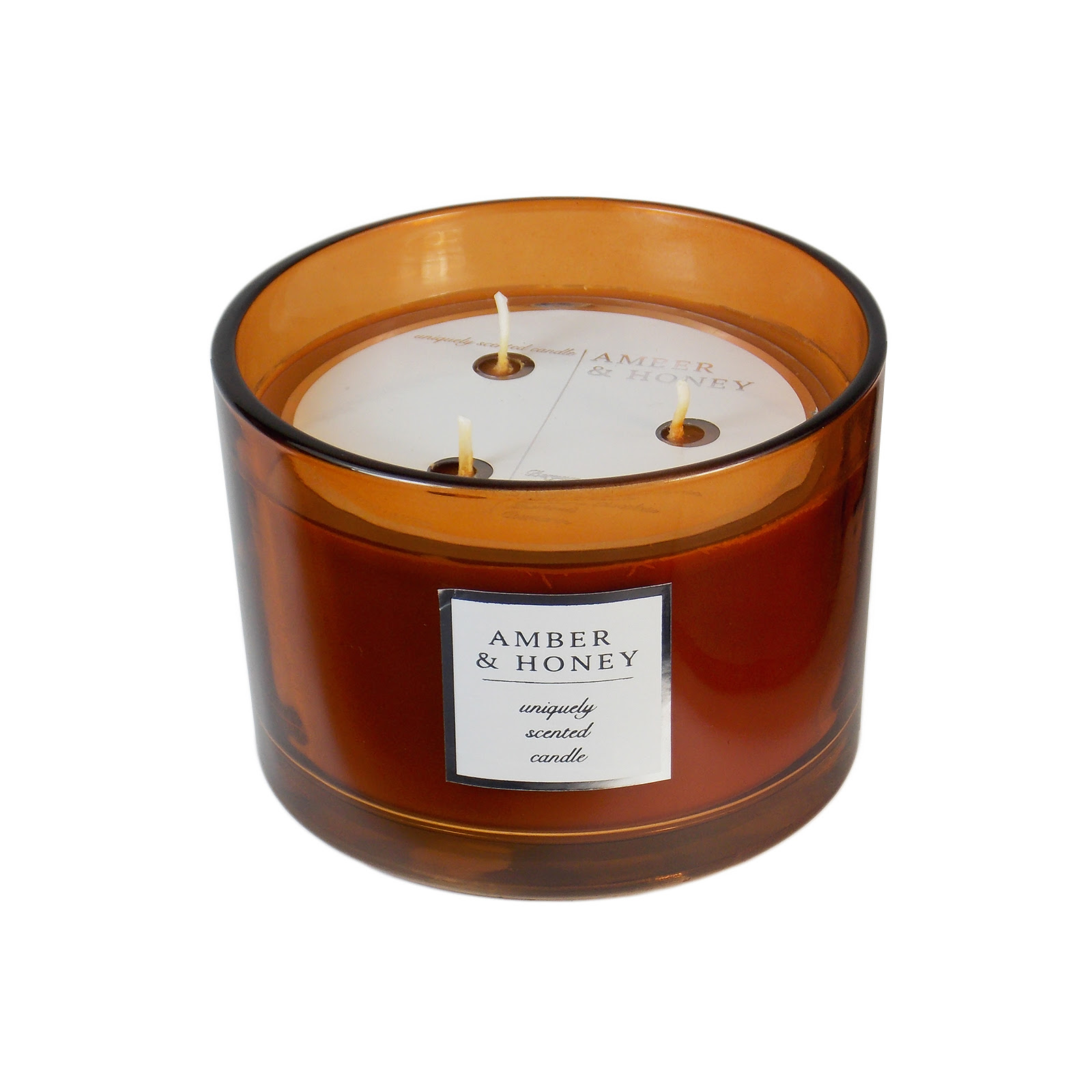 Amber and Honey 3-Wick Candle - 16 oz. - Food & Grocery ...