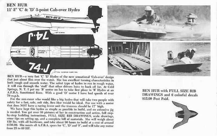 Boating Plan: Ben hur hydroplane plans