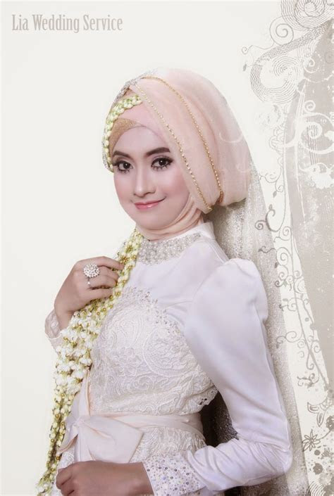 contoh model hijab modern  kebaya pengantin
