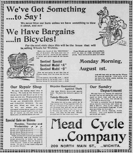 Wichita Bicycle ad (1898)