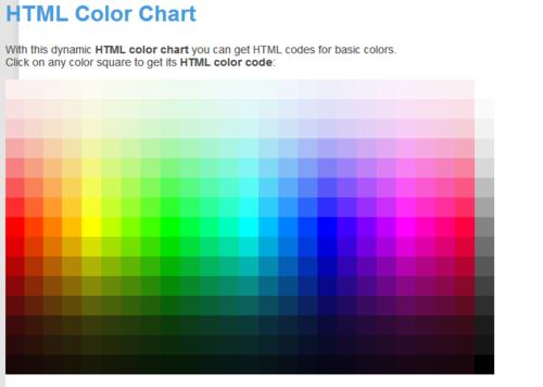 Html Color Codes In Hexadecimal Format