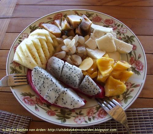 Fruit eten op Bali