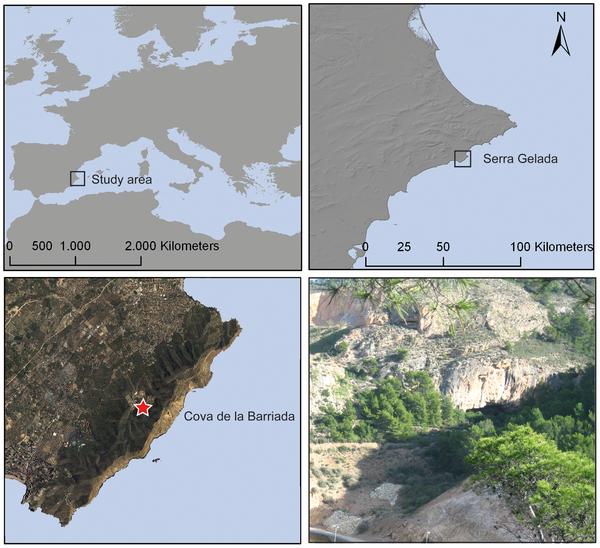 Figura 1 Área de estudio y ubicación del sitio.