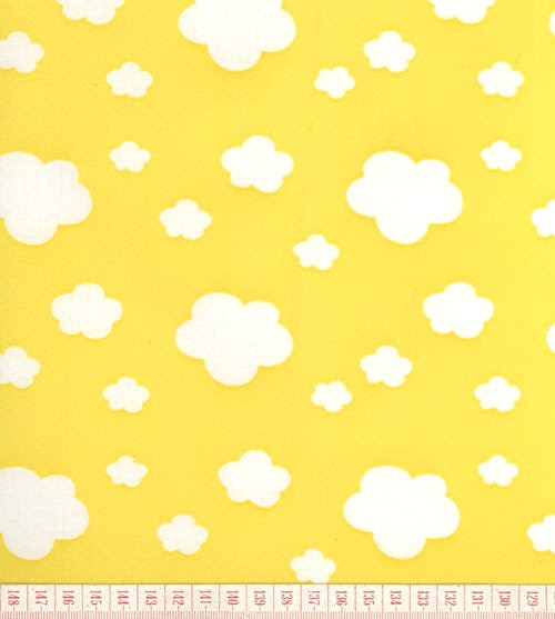 Custom Listing Waterproof Fabric Clouds on Yellow 1 by landofoh