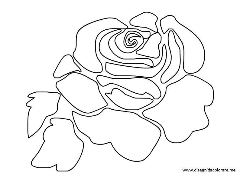 Rosa Stilizzata Disegni Da Colorare