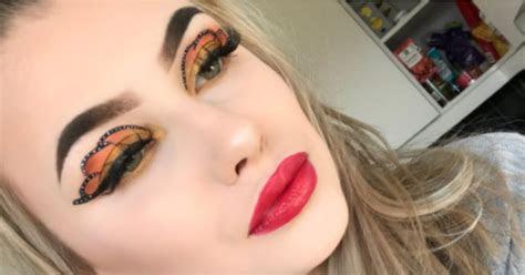 Butterfly Eye Makeup Instagram Beauty Trend   POPSUGAR