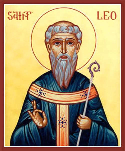 icone orthodoxe de saint Leo de Catane
