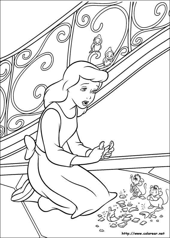 Dibujos De Cenicienta Para Colorear En Colorearnet