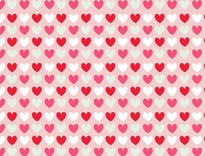 Hearts Scrapbook Papers - Mr Printables